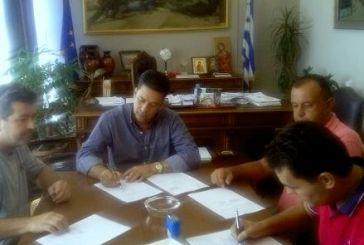 Σύμβαση για έργα στο αγροτικό δίκτυο της Μακρυνείας