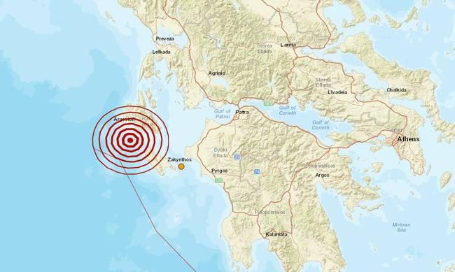 Σεισμός 4,2 Ρίχτερ μεταξύ Ζακύνθου και Κεφαλονιάς