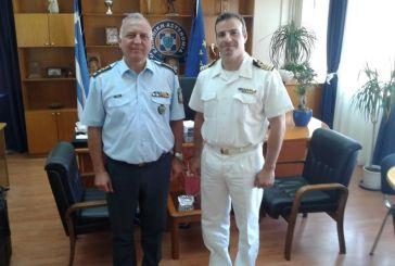 Επίσκεψη του Διοικητή της Ναυτικής Διοίκησης Ιονίου στη Γενική Περιφερειακή Αστυνομική Διεύθυνση