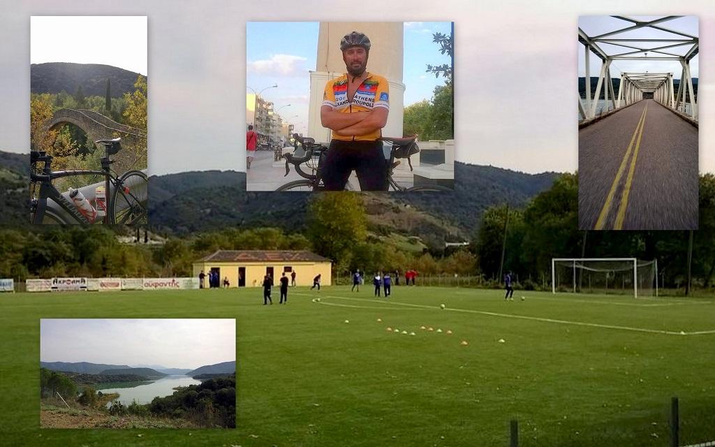 Διένυσε 185 χιλιόμετρα με ποδήλατο για να δει το παιχνίδι ΑΕ Βάλτου – ΑΕΜ