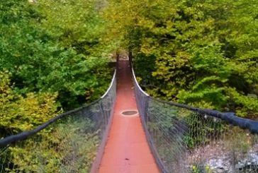 Σε ποιο σημείο του Δήμου Αγρινίου είναι η συγκεκριμένη κρεμαστή γέφυρα;