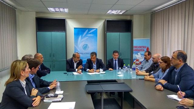 2016.11.08 @ Συνάντηση του Περιφερειάρχη Δυτικής Ελλάδας, Απόστολου Κατσιφάρα, με τον επικεφαλής του Ποταμιού, Σταύρο Θεοδωράκη, για την Πατρών-Πύργου