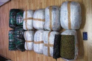 Σύλληψη στην Αιτωλοακαρνανία  25χρονου για 200 κιλά χασίς