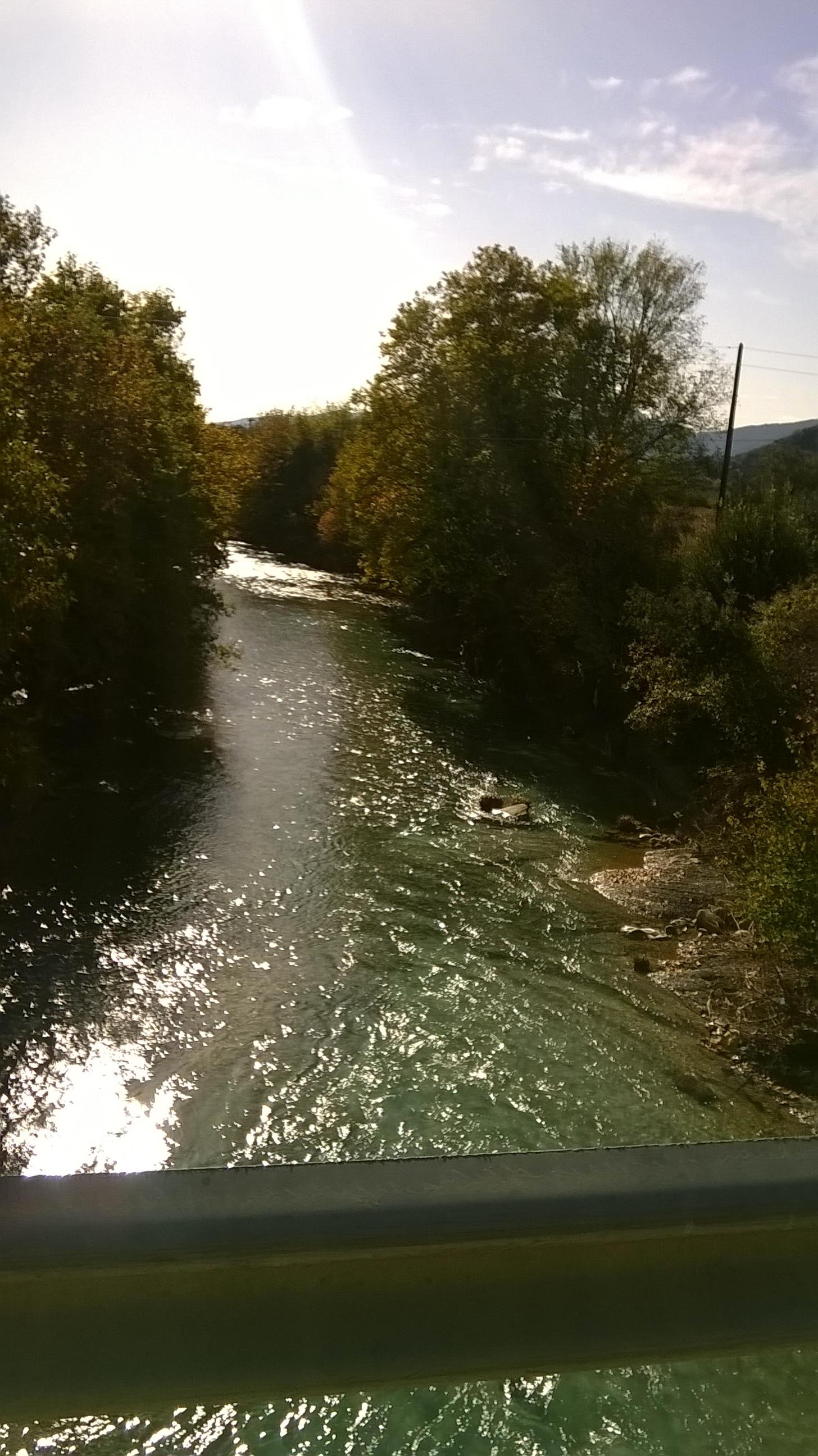 Ο ποταμός Ίναχος από τη γέφυρα της Νέας Μαλεσιάδας