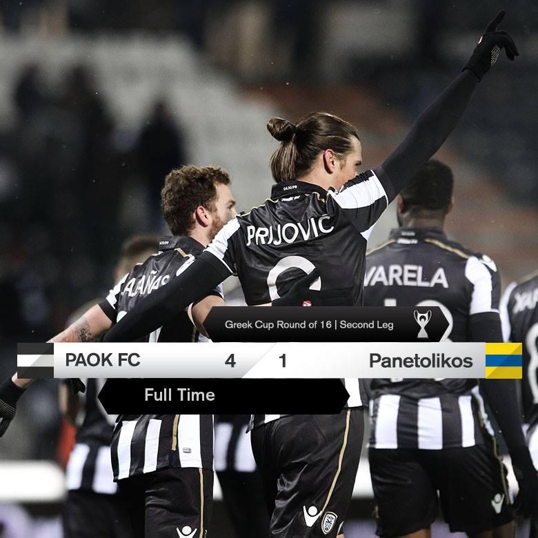 ΠΑΟΚ-Παναιτωλικός 4-1