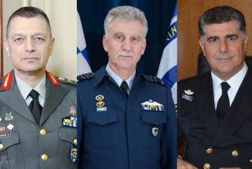Αλλαξαν οι τρεις αρχηγοί Γενικών Επιτελειών