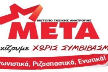 ΜΕΤΑ: Περιοδείες και συσκέψεις σε πόλεις της Δυτικής Ελλάδας και της Ηπείρου