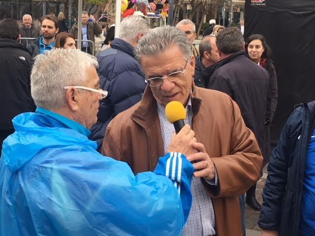 Στο Αγρίνιο για τον ημιμαραθώνιο και ο δημοσιογράφος , πρωην πρόεδρος του ΠΣΑΤ Γιάννης Θεοδωρακόπουλος