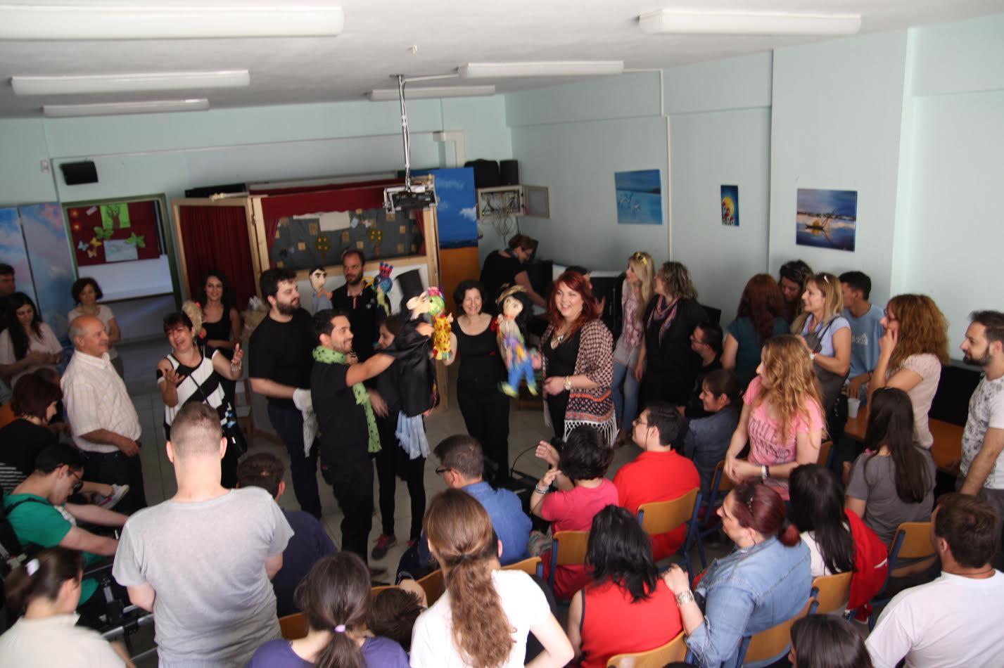 Παράσταση κουκλοθεάτρου στο Ειδικό Σχολείο