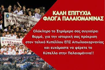 Ξεσηκωμός στην Παλαιομάνινα για τον Τελικό Κυπέλλου