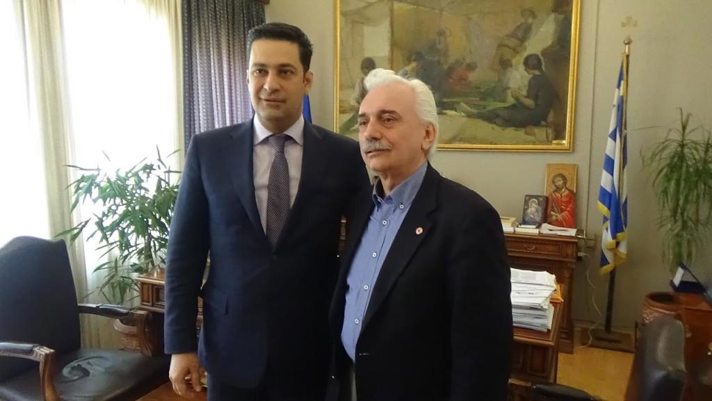 Eπισκέφθηκε τον δήμαρχο Αγρινίου ο πρόεδρος του Ελληνικού Ερυθρού Σταυρού