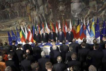 Οι ηγέτες της ΕΕ υπέγραψαν τη Διακήρυξη της Ρώμης στην επετειακή Σύνοδο Κορυφής