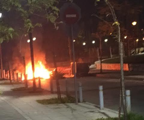 Φωτιές σε κάδους και την περασμένη νύχτα στο Αγρίνιο