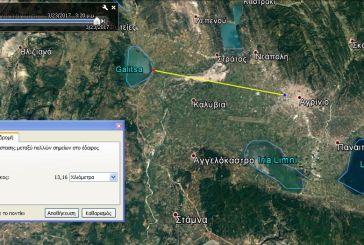 Κάθετη σύνδεση Αγρινίου με Ιονία από Οζερό «λέει» το Google Earth