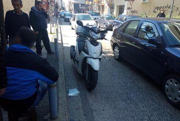 Τροχαίο με τραυματισμό δικυκλιστή στην οδό Παπαϊωάννου