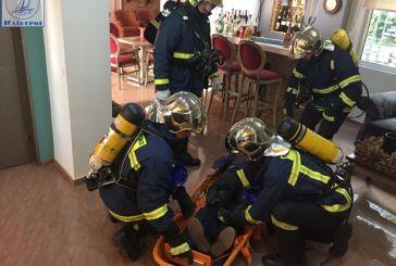 Φωτιά σε ξενοδοχείο η ετήσια άσκηση της Πυροσβεστικής στην Αμφιλοχία (φωτο & video)