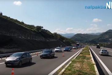 Αυξημένη και σήμερα η κίνηση στην Ιόνια οδό (video)