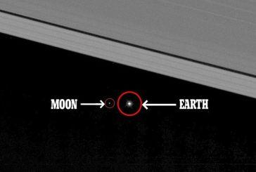 Εκπληκτικές φωτογραφίες: Η Γη και η Σελήνη όπως φαίνονται από τον Κρόνο