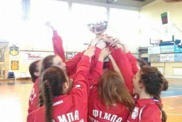 Μπάσκετ Κορασίδων: Πρωταθλήτριες ΕΣΚΑΒΔΕ 2017 οι αθλήτριες του ΦΙ.ΜΠΑ. Πήγασος