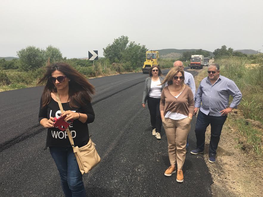 Eπιθεώρησε έργα στο οδικό δίκτυο η Σταρακά