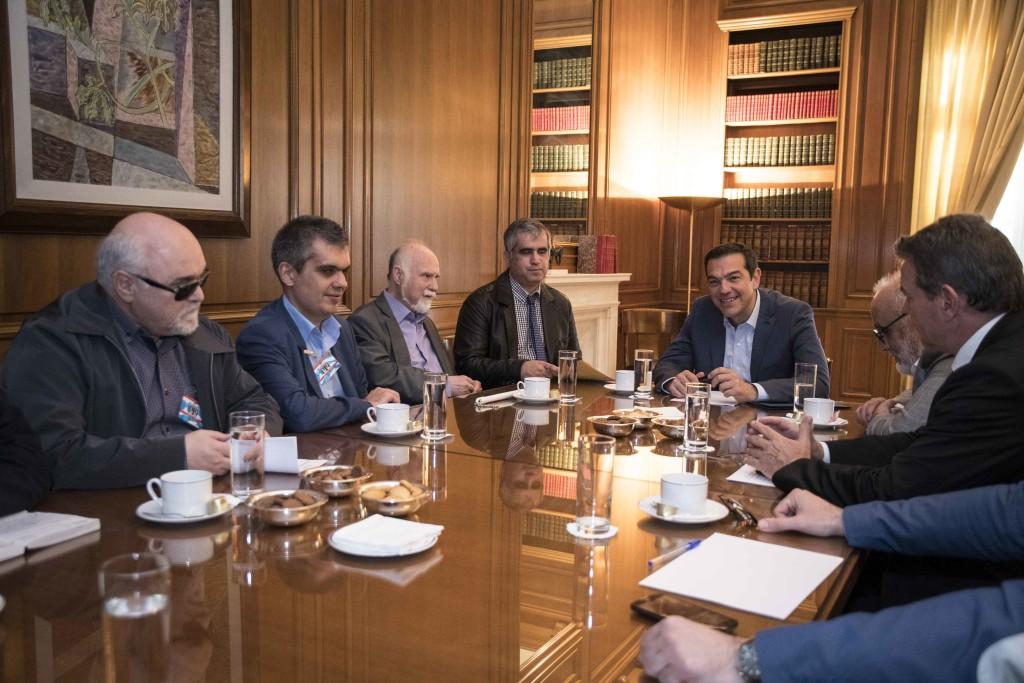 H Ε.Σ.Α.μεΑ. συναντήθηκε με τον πρωθυπουργό Αλέξη Τσίπρα