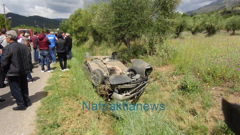 Eίχαν…Άγιο και βγήκαν σώοι από όχημα που ανατράπηκε