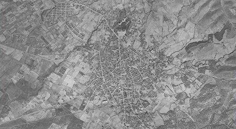 1945: Σπάνια αεροφωτογραφία του Αγρινίου