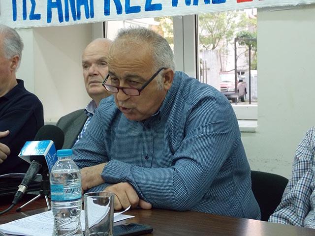 Ο Πρόεδρος του Σωματείου Συνταξιούχων ΙΚΑ Αιτωλοακαρνανίας, Γιώργος Δημητρουλής