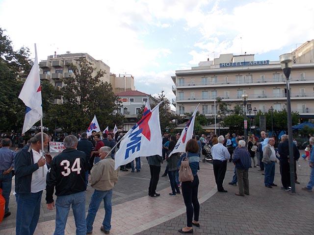 Συλλαλητήριο και στο Αγρίνιο λίγο πριν την ψηφοφορία στη Βουλή για τα νέα μέτρα