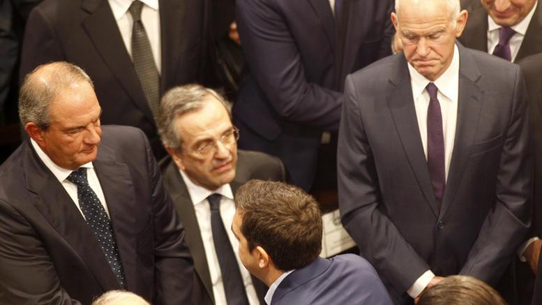 karamanlis - papandreou - samaras - tsipras