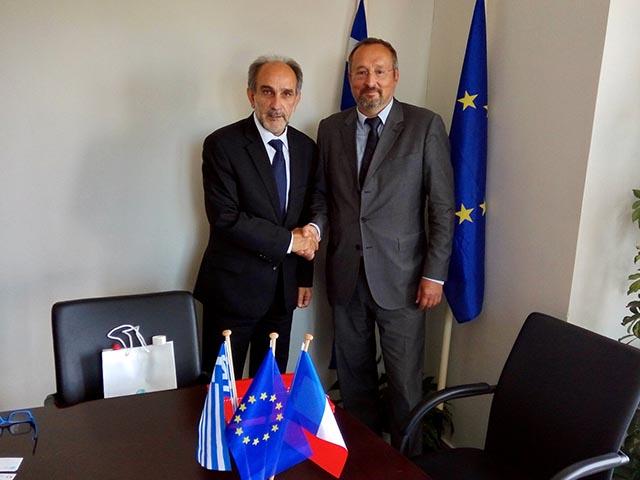 Συνάντηση του Κατσιφάρα με τον Πρέσβη της Γαλλίας