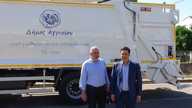 Νέο απορριμματοφόρο στο δήμο Αγρινίου
