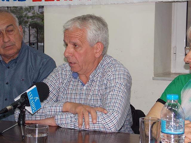 ο Πρόεδρος της Ομοσπονδίας Συνταξιούχων ΙΚΑ, Δήμος Κουμπούρης,