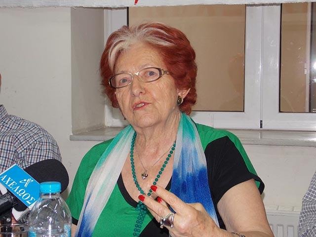 Η Πρόεδρος του Σωματείου Συνταξιούχων ΟΑΕΕ Αγρινίου και Περιχώρων Αναστασία Μαργάρα