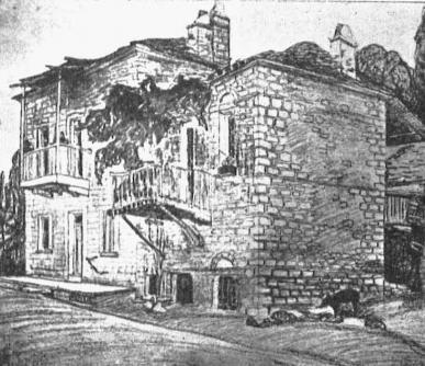 Παλιά σπίτια  παραδοσιακής Αιτωλικής αρχιτεκτονικής στο Κεφαλόβρυσο