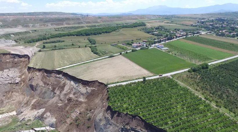 Αμύνταιο: Άλλαξε ο χάρτης μετά την κατολίσθηση στο ορυχείο της ΔΕΗ