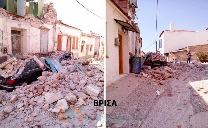 Η επόμενη ημέρα στη Λέσβο μετά τον ισχυρό σεισμό των 6,1 βαθμών