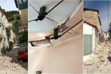 Μία νεκρή από τον σεισμό 6,1 Ρίχτερ ανοιχτά της Λέσβου – Κατέρρευσαν σπίτια