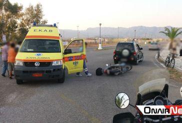Παράδοξο τροχαίο με μοτοποδηλάτη στο Μεσολόγγι