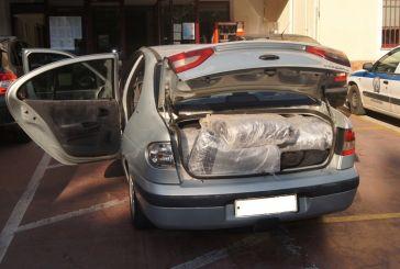 Μπλόκο στη Συκούλα σε μεταφορά 85 κιλών χασίς