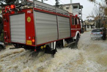 Επί ποδός η Πυροσβεστική για αντλήσεις υδάτων και απεγκλωβισμούς