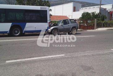 Αυτοκίνητο έπεσε πάνω σε λεωφορείο του αστικού ΚΤΕΛ λίγο έξω από τη Ναύπακτο (video)