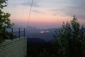 Συνεχίζεται η μάχη με τις φλόγες στα Αμπέλια Παρακαμπυλίων
