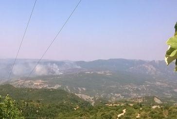 Σε ύφεση η φωτιά στα Αμπέλια που καίει για 5η μέρα