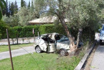 Αυτοκίνητο «προσγειώθηκε» στην αυλή σπιτιού στη Λευκάδα