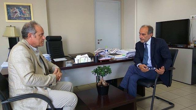 Συνάντηση του Περιφερειάρχη με τον νέο Συντονιστή Αποκεντρωμένης Διοίκησης