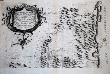Μία από τις πρώτες γκραβούρες που απεικονίζει Βραχώρι, Καλύβια, Ζαπάντι