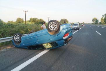 Τροχαίο με ανατροπή οχήματος στην Ιόνια Οδό