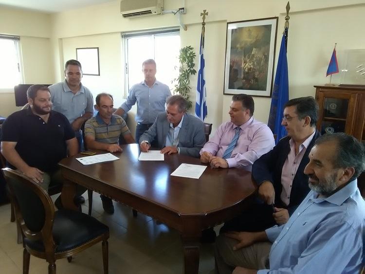Υπεγράφη η σύμβαση του έργου για την βελτίωση της ποιότητας του νερού στο Αιτωλικό