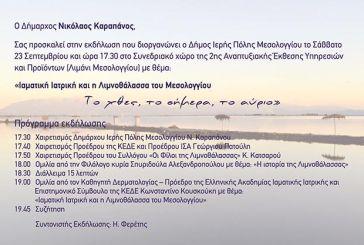 «Ιαματική Ιατρική και η Λιμνοθάλασσα του Μεσολογγίου – Το χθες, το σήμερα, το αύριο»